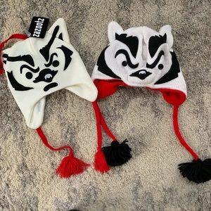 2 Wisconsin Badger Hats